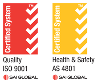 SAI Global Certified System - ISO9001, AS4801 Certified